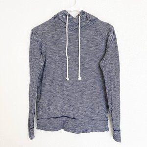 J.Crew Striped Hoodie Sweatshirt Black White XXS
